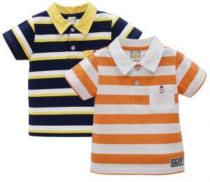 Modelagem de camisa pólo para crianças de 2 a 14 anos. Um modelo unisex.