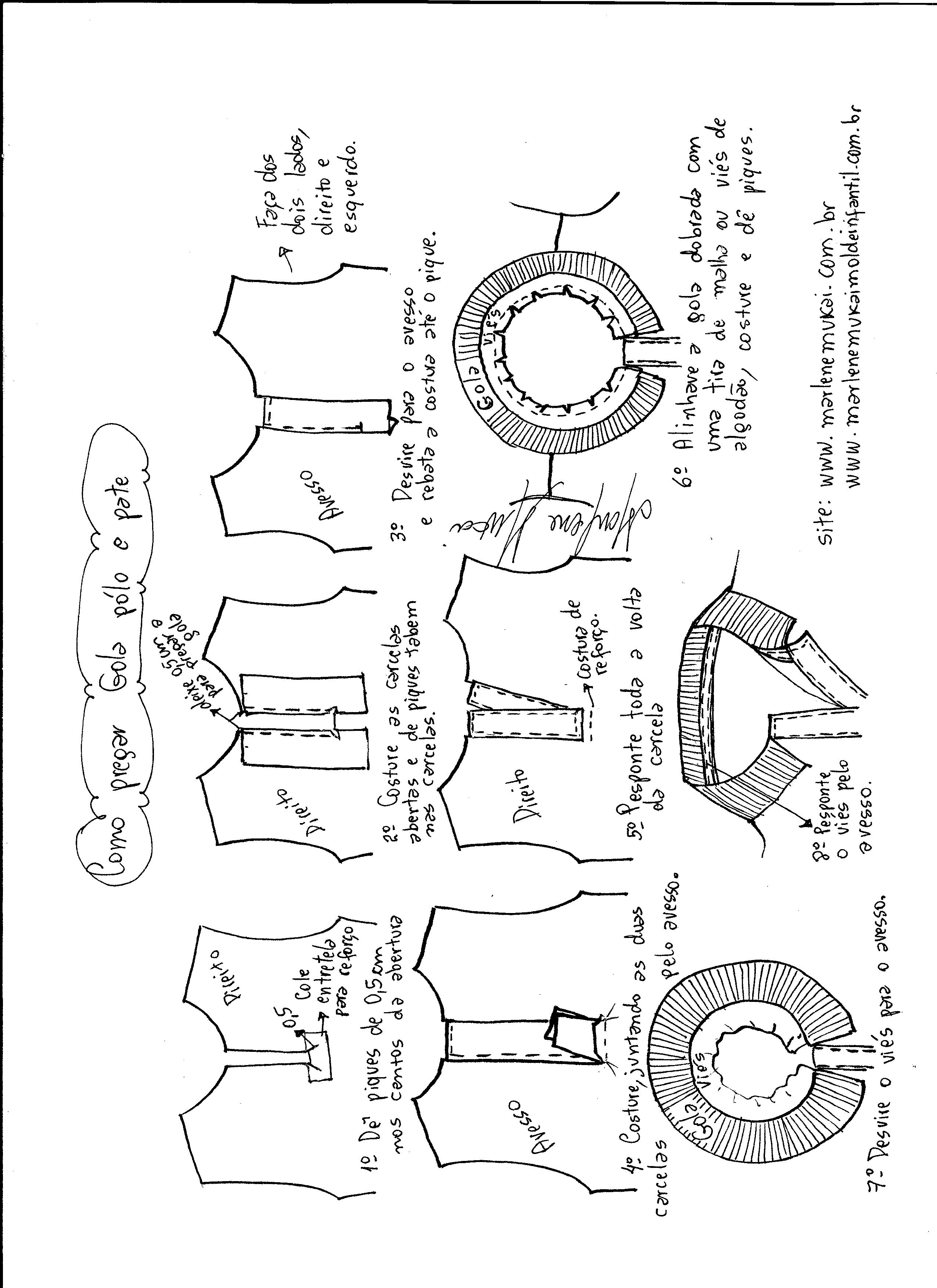 cc1db68557421 Camisa Pólo - DIY- marlene mukai - molde infantil