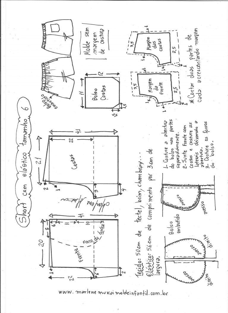 Как сшить мужские бермуды на резинке своими руками выкройка 36