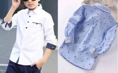 Esquema de modelagem de camisa social para meninos de 1 a 14 anos. 320d1d9b196