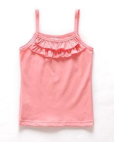 Esquema de modelagem de blusa regata de alcinha com babados para crianças  de 1 a 14 anos. 48c4bf8ae07